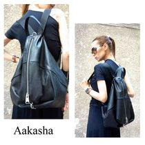 Aakasha Plain Leather Handmade Elegant Style Backpacks