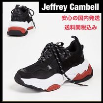 Jeffrey Campbell Unisex Suede Street Style Bi-color Plain Leather Sneakers