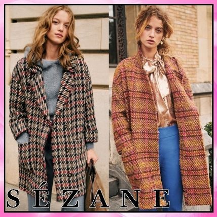 Other Plaid Patterns Casual Style Wool Blended Fabrics