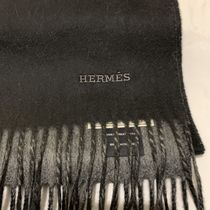 HERMES Knit & Fur Scarves