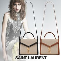 Saint Laurent Casual Style Suede 2WAY 3WAY Chain Plain Leather Party Style