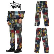STUSSY Printed Pants Street Style Cotton Patterned Pants