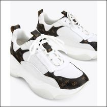 Uterque Logo Print Leather Trainers