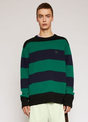 Acne Knits & Sweaters Crew Neck Stripes Long Sleeves Knits & Sweaters 3