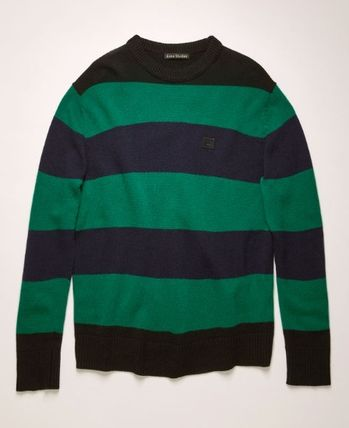 Acne Knits & Sweaters Crew Neck Stripes Long Sleeves Knits & Sweaters 4