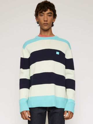 Acne Knits & Sweaters Crew Neck Stripes Long Sleeves Knits & Sweaters 5