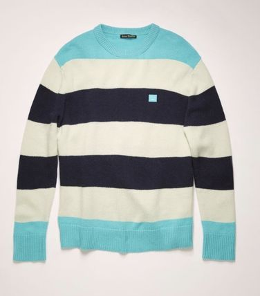 Acne Knits & Sweaters Crew Neck Stripes Long Sleeves Knits & Sweaters 6