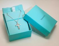 Tiffany & Co Plain Silver 18K Gold Necklaces & Chokers