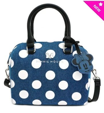 Dots Denim Collaboration Plain Logo Shoulder Bags