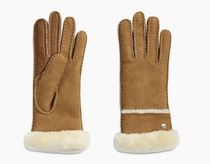 UGG Australia Suede Plain Shearling Touchscreen Gloves