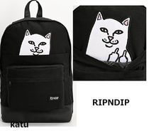 RIPNDIP Street Style Plain Backpacks