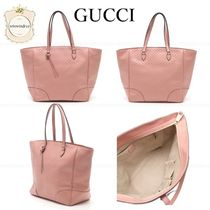 GUCCI Leather Elegant Style Totes