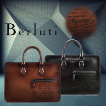 Berluti A4 Plain Leather Business & Briefcases