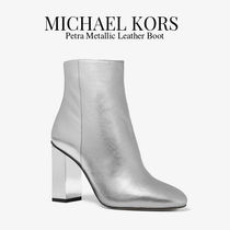 Michael Kors Rubber Sole Plain Leather Party Style Ankle & Booties Boots