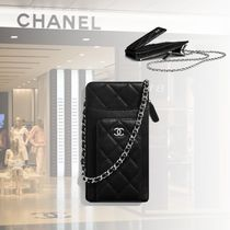CHANEL Casual Style Lambskin Street Style Chain Plain Party Style