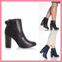 Lipsy Round Toe Casual Style Suede Faux Fur Blended Fabrics Plain