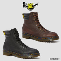 Dr Martens Plain Toe Mountain Boots Round Toe Casual Style Unisex