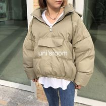 Short Street Style Plain Medium Oversized Khaki Co-ord
