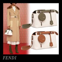 FENDI BY THE WAY Casual Style Canvas Blended Fabrics 3WAY Plain Office Style