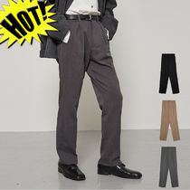 OPEN THE DOOR Slax Pants Unisex Street Style Plain Slacks Pants