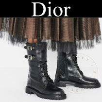 Christian Dior Casual Style Street Style Plain Leather Pin Heels Handmade