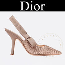 Christian Dior JADIOR Star Street Style Leather Pin Heels Handmade Party Style
