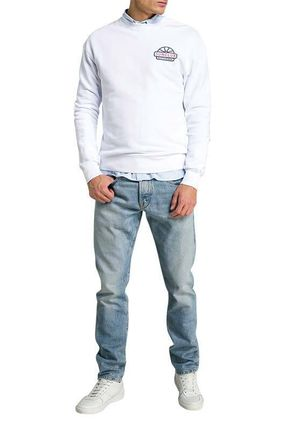 Scotch & Soda Pullovers Street Style Long Sleeves Cotton Logo Surf Style
