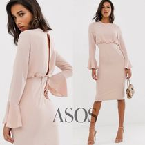 ASOS Crew Neck Casual Style Tight Cropped Plain Medium Dresses