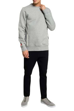 Scotch & Soda Pullovers Street Style Long Sleeves Plain Cotton Surf Style