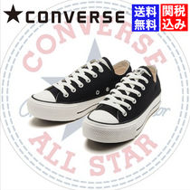 CONVERSE ALL STAR Platform Rubber Sole Casual Style Plain