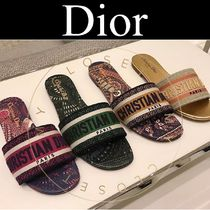 Christian Dior DWAY Open Toe Casual Style Street Style Other Animal Patterns