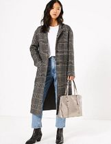 Marks&Spencer Casual Style Faux Fur Plain Office Style Elegant Style Totes