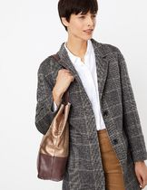 Marks&Spencer Casual Style A4 Plain Leather Office Style Elegant Style