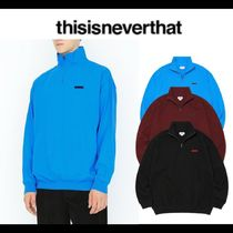 thisisneverthat Pullovers Street Style Long Sleeves Cotton Polos