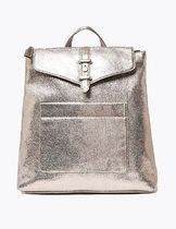 M&S COLLECTION Casual Style Faux Fur Plain Elegant Style Backpacks