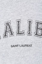 Saint Laurent Crew Neck Rib Long Sleeves Cotton Logo Hoodies & Sweatshirts