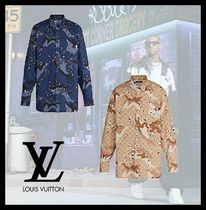 Louis Vuitton MONOGRAM Camouflage Monogram Unisex Street Style Long Sleeves Cotton