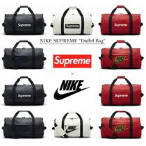 Supreme Unisex Street Style Collaboration Leather Boston Bags