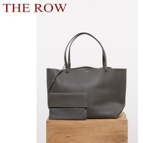 The Row Calfskin Plain Leather Totes