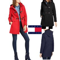 Tommy Hilfiger Casual Style Plain Office Style Elegant Style Duffle Coats