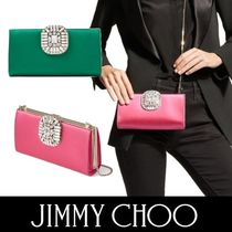 Jimmy Choo 2WAY Chain Plain Party Style With Jewels Elegant Style