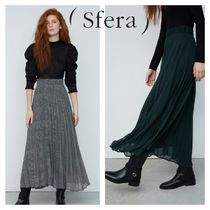 Sfera Other Check Patterns Casual Style Pleated Skirts Long