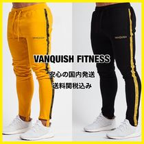 VANQUISH FITNESS Tapered Pants Sweat Street Style Plain Cotton Tapered Pants