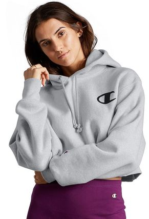 Short Sweat Long Sleeves Plain Cotton Logos on the Sleeves