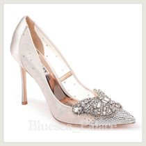 Badgley Mischka Plain Pin Heels Party Style With Jewels Elegant Style