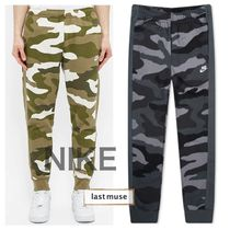 Nike Printed Pants Camouflage Sweat Street Style Cotton Logo