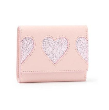 Heart Leather Folding Wallet Small Wallet Folding Wallets