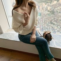 Casual Style Elegant Style Off the Shoulder