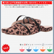 CHINESE LAUNDRY Leopard Patterns Casual Style Pointed Toe Shoes
