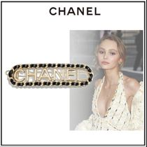 CHANEL Barettes Casual Style Blended Fabrics Initial Elegant Style